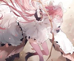 anime, art, and pink hair image