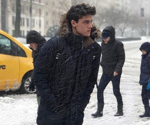 cold, model, and snow image