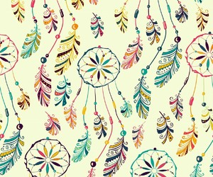 colors, Dream, and dreamcatcher image