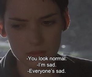 sad, quotes, and normal image