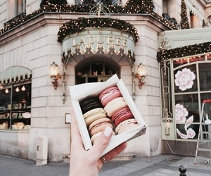 food, macaroons, and aesthetic image