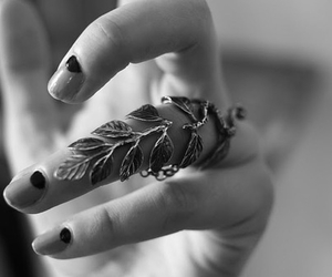 fashion, leaves, and hand image