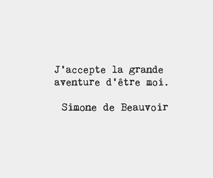be yourself, words, and simone de beauvoir image