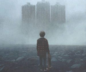 boy, buildings, and chaos image