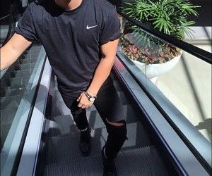 boy, nike, and black image