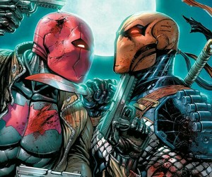 DC, red hood, and deathstroke image