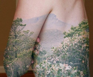 body, flowers, and tattoo image