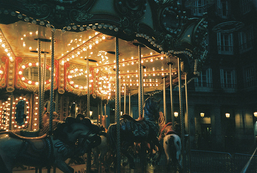 carousel, light, and photography image