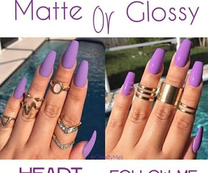 glossy, heart, and matte image