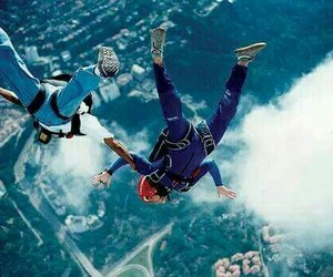 boy, skydiving, and sky image