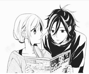horimiya, manga, and couple image