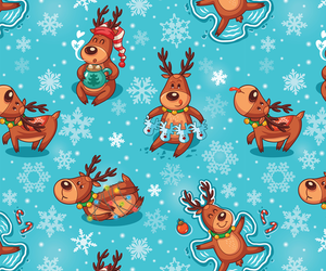 background, christmas, and deers image