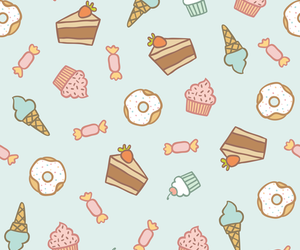 cupcake, pattern, and cake image