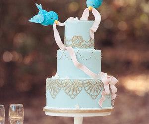 cake, bird, and cinderella image