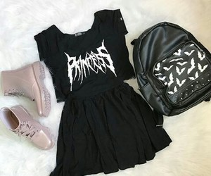 black, clothes, and goth image