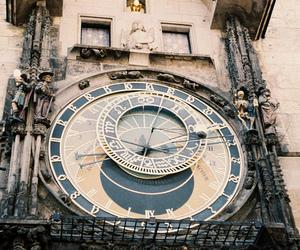 clock, prague, and city image