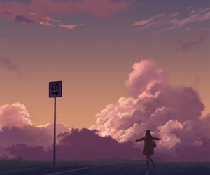 anime, art, and sky image