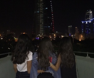 girl, ghetto, and night image