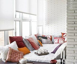 cushions, nook, and relax image