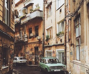street, building, and car image