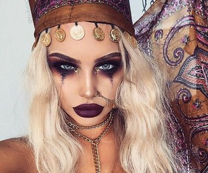 Halloween, makeup, and costume image