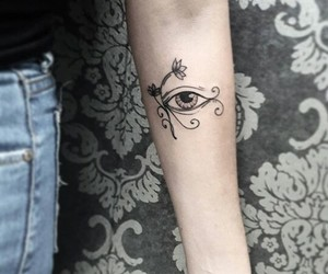 art, tattoo, and horus image