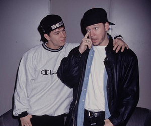 donnie wahlberg, mark wahlberg, and new kids on the block image
