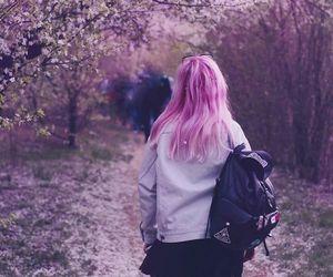 dyed hair, grunge, and pastel image