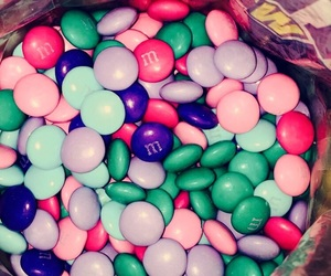 candy, m&ms, and pastel image