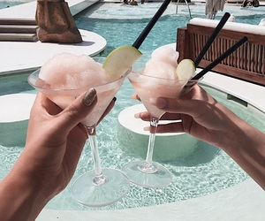 drinks, margaritas, and pool image