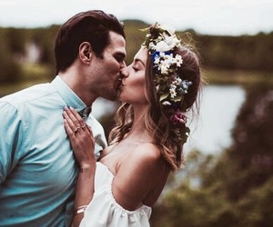 love, kiss, and couple image