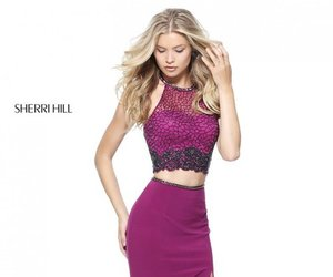 girl prom dress, sherri hill 51142, and jersey fitted dress image