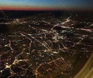 city lights, europe, and flight image