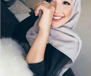 hijab, beauty, and girl image