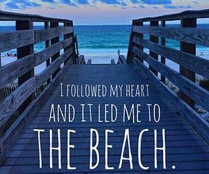 beach, quote, and summer image