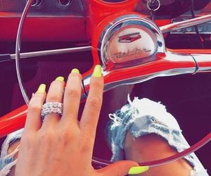 nails, car, and khloe kardashian image