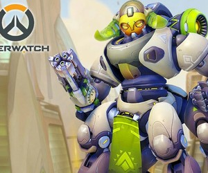 game, overwatch, and orisa image