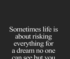 quote, Dream, and risk image