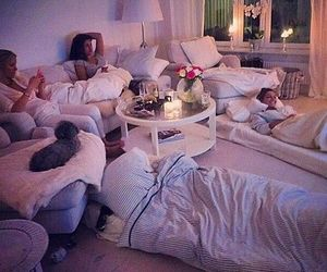 friends, night, and sleepover image