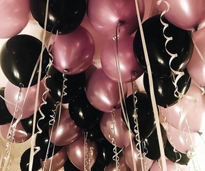 balloons, luxury, and rose image