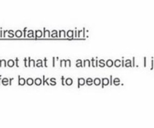 antisocial, books, and funny image