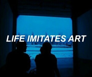 art, life, and blue image