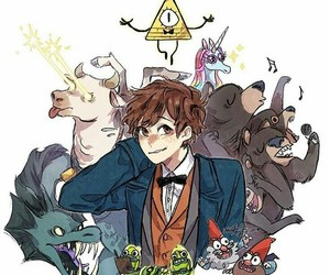 gravity falls, bill cipher, and harry potter image