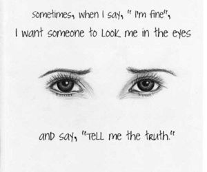 eyes, sad, and truth image