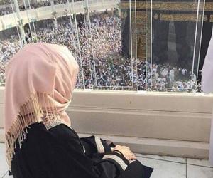 girl, muslim, and makka image