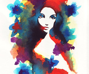 art, colors, and white image