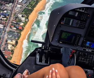 helicopter, luxury, and beach image