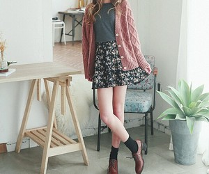 black, floral, and skirt image