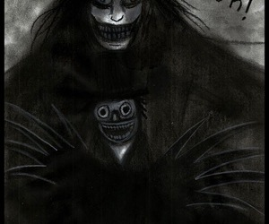 horror, scary, and the babadook image