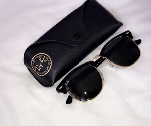 black, glasses, and rayban image